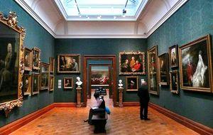 Зал национальной галереи в Лондоне